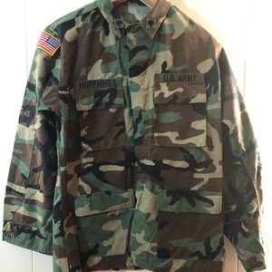 Authentic Military US Army Men's Shirt Medium Long